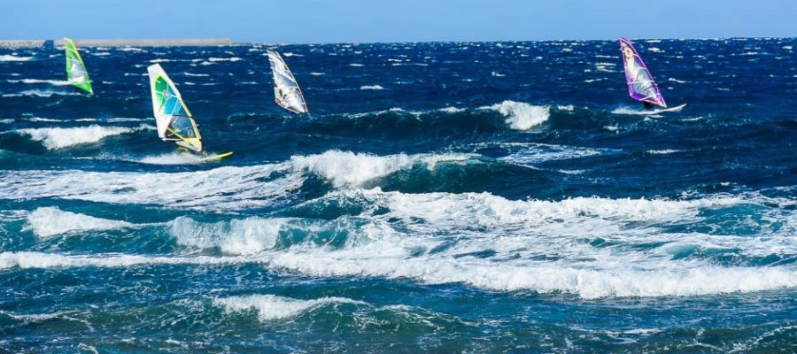 foto over windsurfen op tenerife